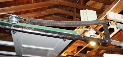 garage door extension springs replacement replacing garage door extension springs stretch