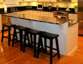 Kitchen Island With Cooktop And Seating two tiered step down kitchen island kitchen islands