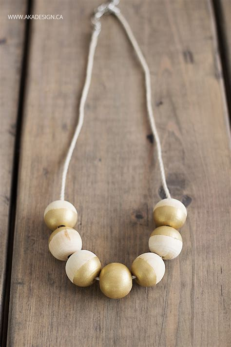 wooden bead necklace diy painted wooden bead necklace