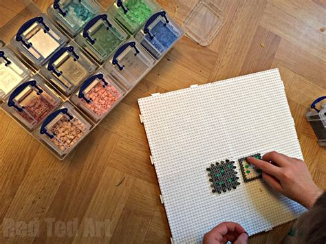 minecraft arts and crafts projects minecraft crafts perler bead moneybox ted s