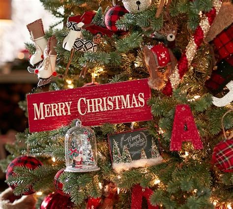 pottery barn ornaments merry sign ornament pottery barn