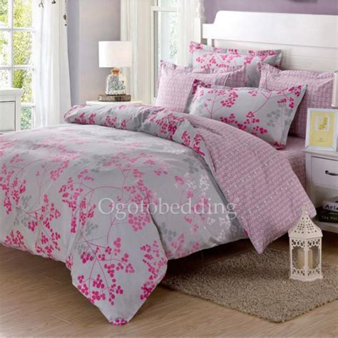 light grey comforter sets clearance light grey and pink pattern cotton comforter