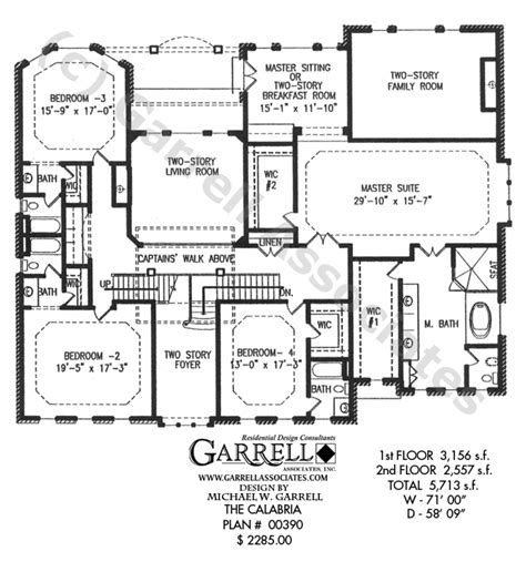master house plans calabria house plan house plans by garrell associates inc