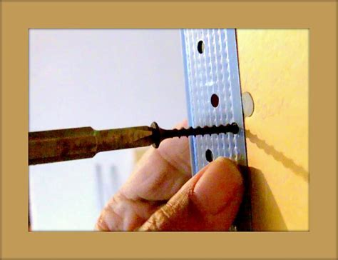 attaching corner bead how to attach corner bead to drywall see drill