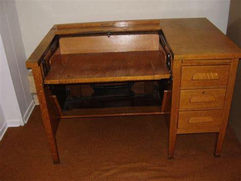 antique typewriter desk antique solid oak typewriter desk saanich sidney