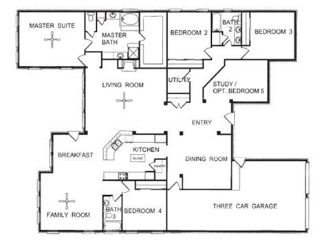 floor plans for homes one story one story floor plans one story open floor house plans one story house blueprints mexzhouse