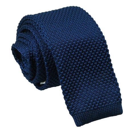 mens knit tie s knitted navy blue tie