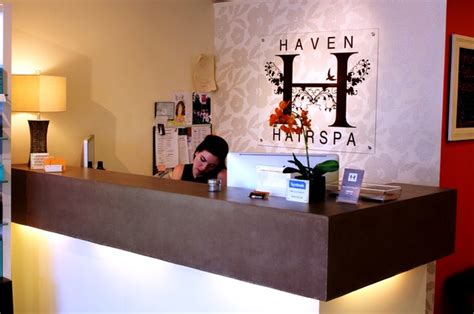 Spa Artwork For Bathrooms by Haven Hair Salon Reception Desk New York By Surface