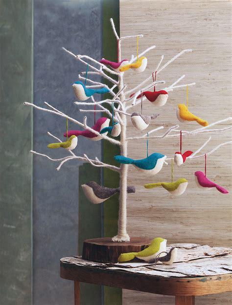 large felt tree large felt bird ornaments bird series tree ornaments