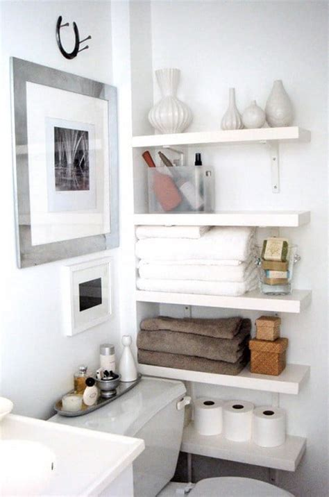 bathroom shelving ideas for towels 53 bathroom organizing and storage ideas photos for