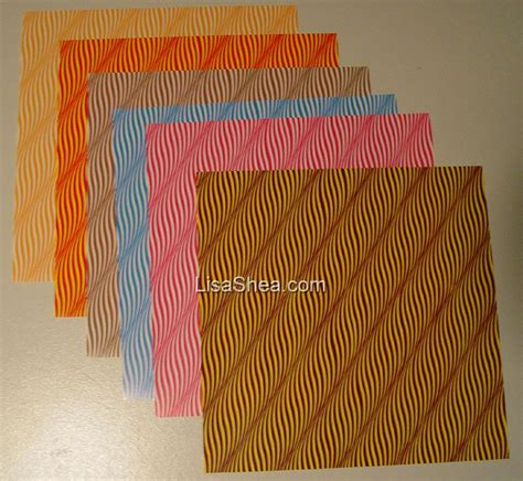 lined paper origami wavy line washi origami paper