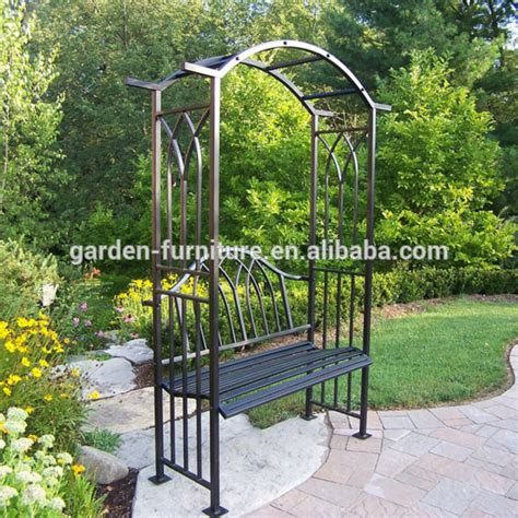 Garden Arch And Bench Outdoor Patio Decorative Painted White Luxury Leisure