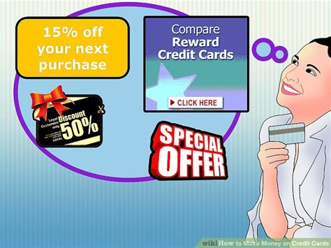make credit cards 3 ways to make money on credit cards wikihow