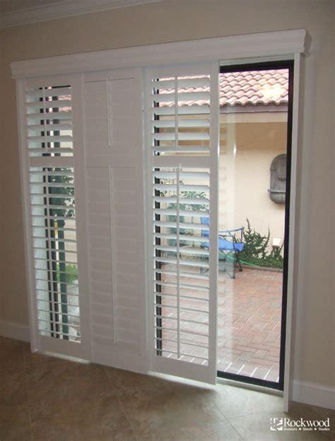 glass door shutters plantation shutters for sliding glass door traditional