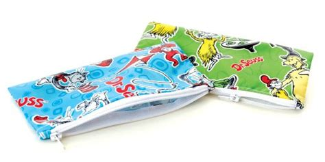dinosaur rubber sts bumkins 2 count reusable snack bags blue green small