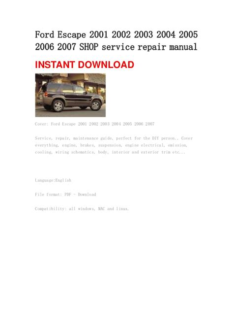 car repair manuals online free 2004 ford escape security system 2005 ford escape transmission replacement cost