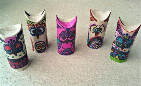 owl craft toilet paper roll beautiful mess craft diy stuff
