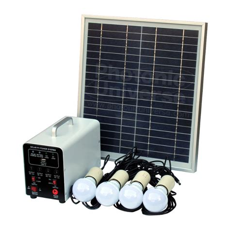 15w grid solar lighting system with 4 led lights