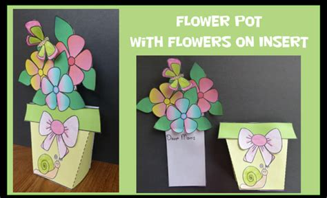 mothers day cards to make ks2 s day crafts flower pot with flowers insert by