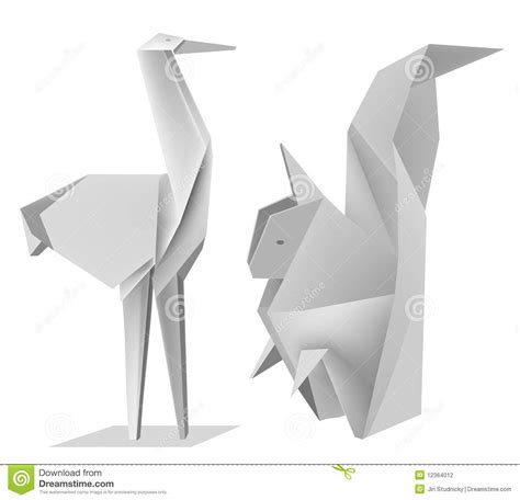 origami stork origami squirrel stork stock photography image 12364012