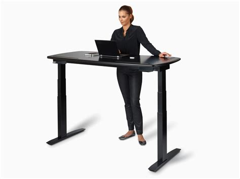 wired standing desk a smart office desk that tells you when it s time to stand