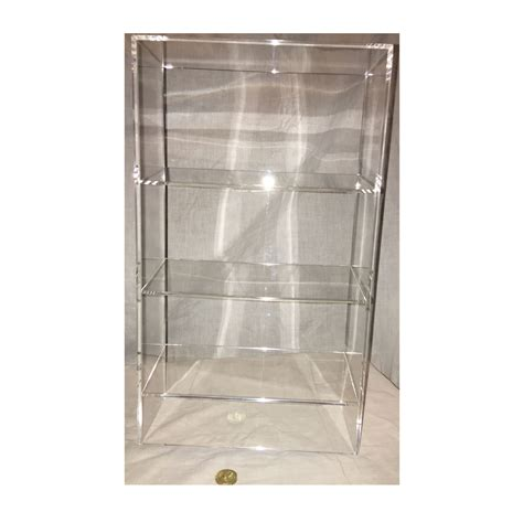 acrylic bookshelves 1 high gloss clear acrylic display with 3 tilted