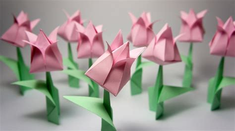 origami flowers tulip ایده ساخت گل لاله اوریگامی you can