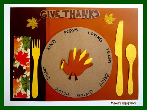 gratitude crafts for 5 crafting gratitude turkey placemats s happy hive