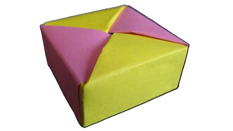 small origami box with lid how to make origami box with lid 171 origami wonderhowto