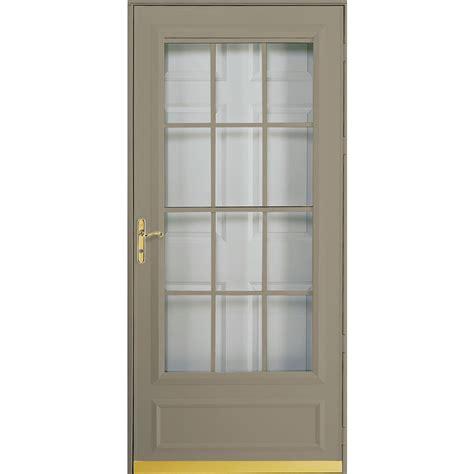 pella retractable screen door shop pella cheyenne putty mid view safety retractable
