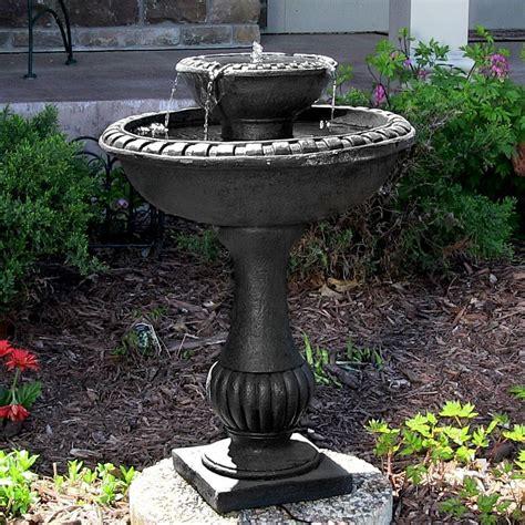 Solar Water Fountain Birdbath 2 Tier Patio Outdoor Backyard Garden   Decor NexusDecor Nexus