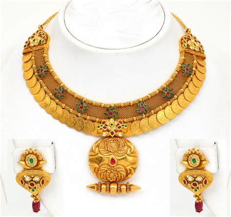 gold necklace designs with indian gold jewellery necklace designs with price