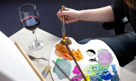 paint nite inland empire groupon social painting class paint the town socal groupon