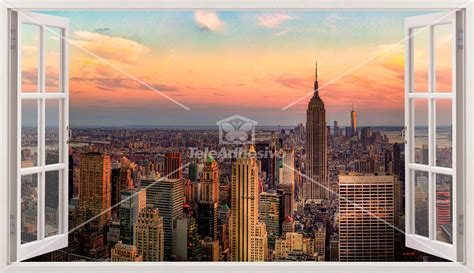 new york skyline wall sticker panorama skyline of new york