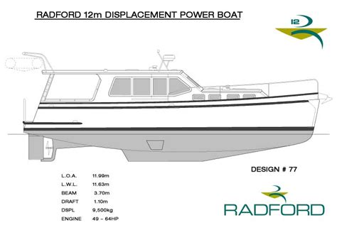 Home Plans With A View radford yacht design radford 12m displacement power boat