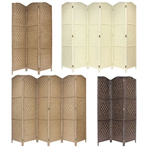 privacy screens room dividers solid weave made wicker folding room divider