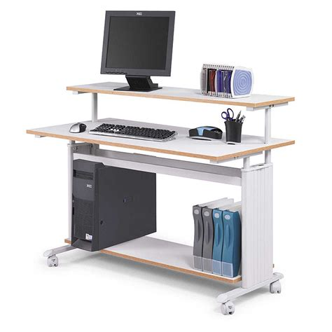 stand computer desk desktop stand up computer stand review and photo