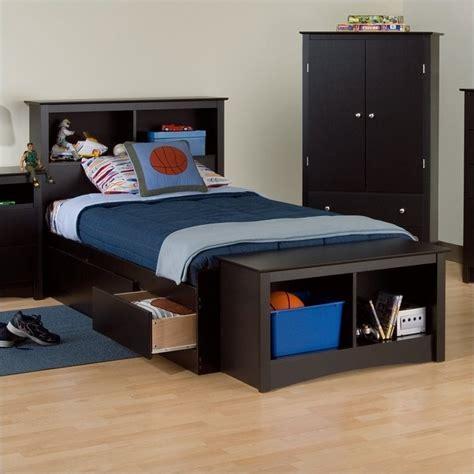 xl platform storage bed black xl bookcase platform storage bed bbx 4105 kit