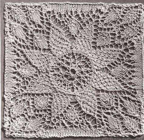 flower lace knitting pattern vintage lace flower motif bedspread block knitting pattern