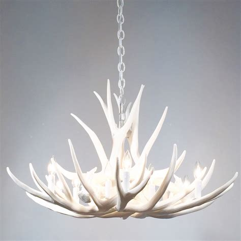 deer chandelier white antler chandelier faux deer antler chandelier d9