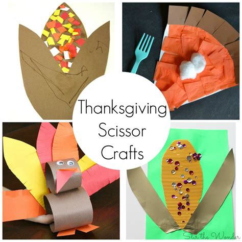 thanksgiving arts and crafts ideas for thanksgiving scissor crafts for preschoolers stir the