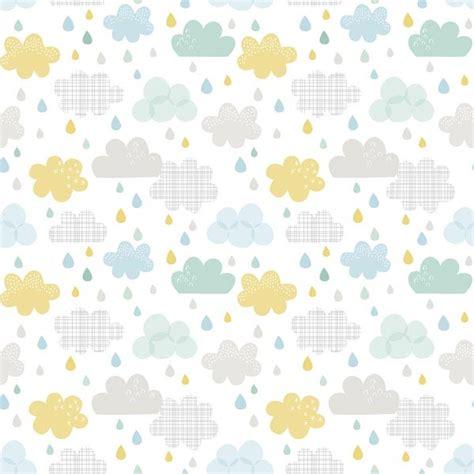 papier peint enfant nuages et gouttes