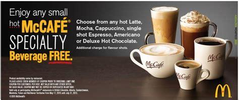 Get a FREE McDonald?s Canada Small McCafé Specialty