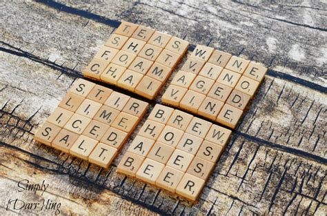 make scrabble make scrabble tile drink coasters with glue
