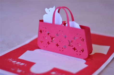 Gift Purse Pop Up Card Template