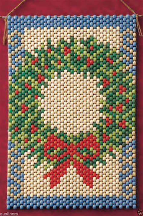 beaded banner kits winter wreath beaded banner kit the beadery craft products