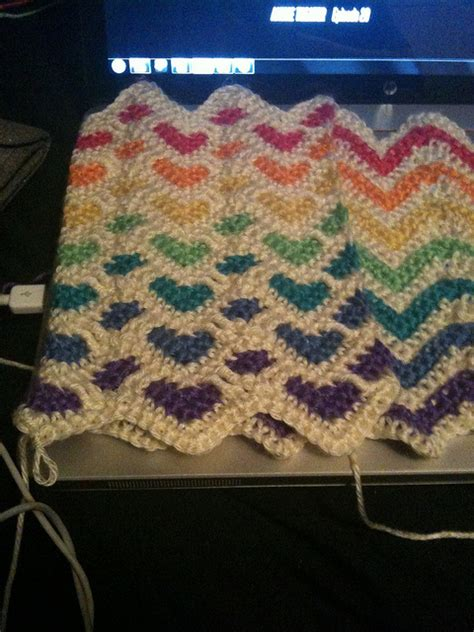 reversible afghan knitting pattern reversible sweetheart and ripple afghan in rainbow colours