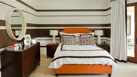 orange and brown bedroom ideas brown striped bedroom walls design ideas