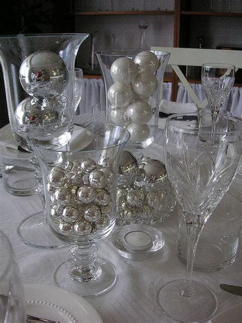 silver table decorations for black white silver table setting reception