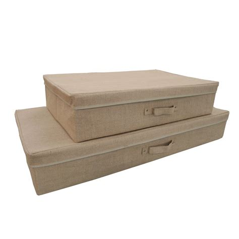 bed and box hessian bed storage box